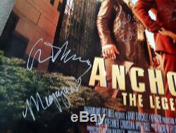 Anchorman 2 Signé Autographes Affiche Cinéma Quad Originale Will Farrell Rudd