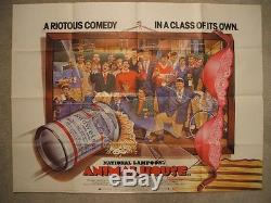 Animal House 1978 Affiche De Film Originale Britannique Quad National Ex-nm De Lampoon