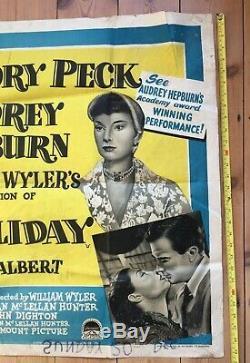 Audrey Hepburn Roman Holiday Originale Royaume-uni Quad Film Rare Affiche