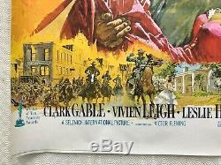 Autant En Emporte Le Vent Quad Affiche Du Film 1969 Clark Gable Vivien Leigh Terpning Art