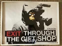 Banksy Sortie Par La Boutique De Cadeaux Original Uk Quad Cinema Poster