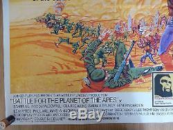 Bataille Pour La Planète Des Apes (1973) - Affiche Originale De Film / Affiche De Film Britannique, Rare