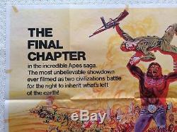Battle For The Planet Of The Apes 1973 Affiche Originale Britannique Film Quad