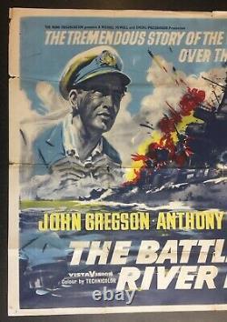 Battle Of The River Plate 1956 Original Cinema Uk Quad Movie Poster Variante Rare