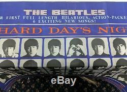 Beatles Une Nuit Difficile Days Original Affiche De Film Quad Uk 1964 Jour