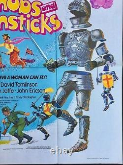 Bedknobs And Broomsticks Original Quad Affiche De Cinéma Walt Disney 1970srr