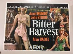 Bitter Harvest 1963 D'origine Britannique Quad Affiche Du Film