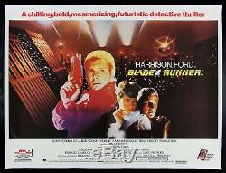 Blade Runner Cinemasterpieces 1982 Uk Poster De Film Branché En Lin Quadrié Britannique