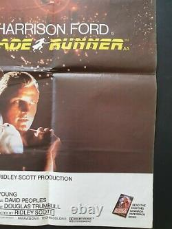 Blade Runner Original Movie Poster 1982 Britannique Quad Harrison Ford Vnc