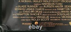 Blade Runner Réalisateurs Cut Original Quad Affiche De Cinéma Ridley Scott Harrison Ford