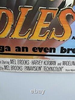 Blazing Saddles Original Uk British Quad Film Poster 30x40 (1974)