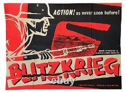 Blitzkrieg Original Quad Affiche De Cinéma 1962 Very Rare