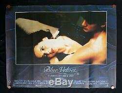 Blue Velvet (1986), Affiche De Film Vintage Britannique Quad David Lynch Twin Peaks