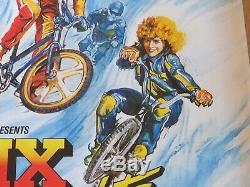 Bmx Bandits Original 1983 Uk Cinema Quad Film Affiche V Rare Lamine Nicole Kidman