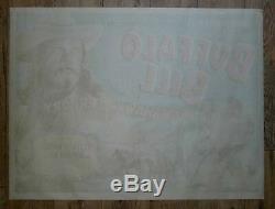 Buffalo Bill 1952 Original Uk Quad Film Affiche Western Cowboys