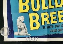 Bulldog Breed Square Peg Original Quad Movie Poster Norman Wisdom Comedy Années 1960