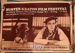Buster Keaton Festival Du Film Original Quad Movie Poster 1970 Rarissime