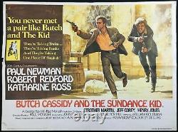 Butch Cassidy And The Sundance Kid Original Quad Movie Poster Paul Newman 1969