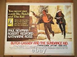 Butch Cassidy And The Sundance Kid Original Rare British Quad Film 1969 Affiche