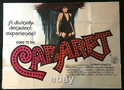 Cabaret Original Quad Movie Poster Liza Minnelli Tom Chantrell Bob Fosse 1972