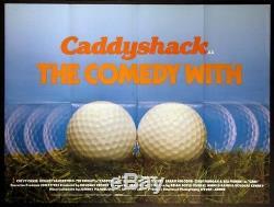 Caddyshack Bill Murray Chevy Chase Golf 1980 Affiche De Film Britannique Quad