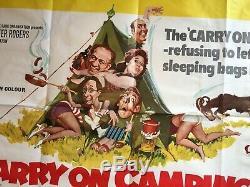 Carry Le Camping D'origine Affiche Du Film Quad Uk 1969 Cast Classique