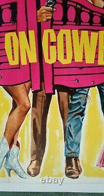 Carry On Cowboy (1965) Affiche Originale Du Cinéma Quad Britannique Version Rare De Saloon Doors