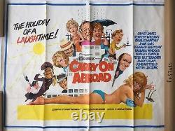 Carry On Film À L'étranger Affiche Originale Britannique Quad S'il Vous Plaît Lire La Description
