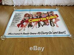 Carry On Girls British Royaume-uni Originale 1973 Cinéma Film Quad Poster Rolled Inutilisé