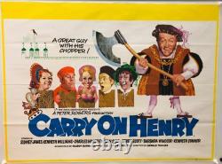 Carry On Henry Britannique British Quad (1971) Film Affiche Originale