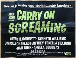 Carry On Screaming 1966 Rare Original Uk Quad Affiche Du Film