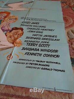 Carry Originale Sur Matron Millésime Uk Affiche De Film Quad 30 X 40 1972