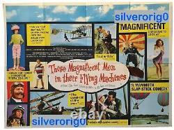 Ces Hommes Magnifiques Dans Leurs Machines Volantes Original Quad Movie Poster 1965