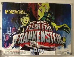 Chair Pour Frankenstein Affiche Originale De Film Quad Uk Andy Warhol