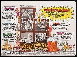Charlie Et La Chocolaterie 1971 Rare Uk Quad Gene Wilder Filmartgallery