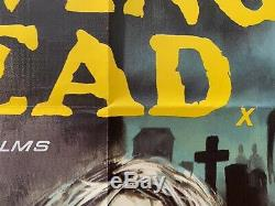 City Of The British Living Dead Originale Au Royaume-uni Quad Affiche De Film 1980 Rare Fulci