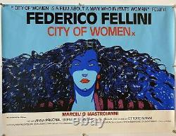 City Of Women Original Uk British Quad Film Poster (1981) Rolled Fellini 30x40