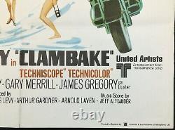 Clambake Original Quad Movie Affiche Elvis Presley 1967
