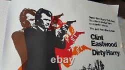 Clint Eastwood Dirty Harry Lined Uk Quad Affiche De Cinéma Originale Vf