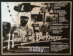 Coeurs De L'obscurité Originale Quad Affiche Du Film Making Of Apocalypse Now Coppola