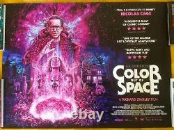 Color Out Of Space Orig Ds Uk Quad 40x30 Lovecraft Cage Stanley Dude