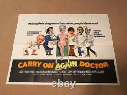 Continuer À Nouveau Doctor Original Uk Quad Affiche De Film Sid James Kenneth Williams