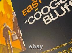 Coogan's Bluff Original Uk Film Poster Linen Soutenu Quad 1968 Clint Eastwood