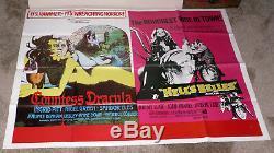 Countess Dracula / Hell's Belles Affiche Originale Du Film Hammer Quad Ingrid Pitt