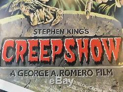 Creepshow Originale 1982 Britannique Quad Movie Poster, C8.5 Very Fine / Near Mint