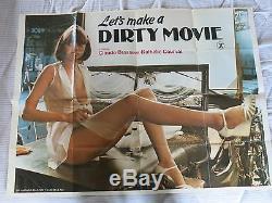 Creons Un Film Original Dirty Uk Quad Affiche De Film Plié 1976 Adulte Porn
