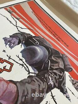 Cross Of Iron Uk Quad Linen Backed (1977) Avec L'affiche Originale De Film Vintage