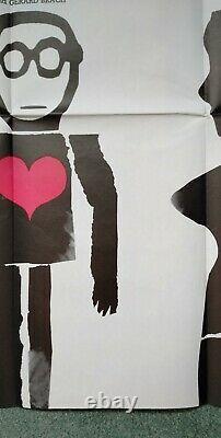 Cul-de-sac (1966) Affiche Originale Du Quad Britannique Donald Pleasence Roman Polanski
