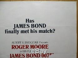 Dangereusement Vôtre (1985) Affiche Film Quad Britannique Original / Film, James Bond 007