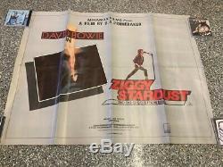 David Bowie Vintage Original Stardust Ziggy Quad Affiche Un Film Feuille De 1973